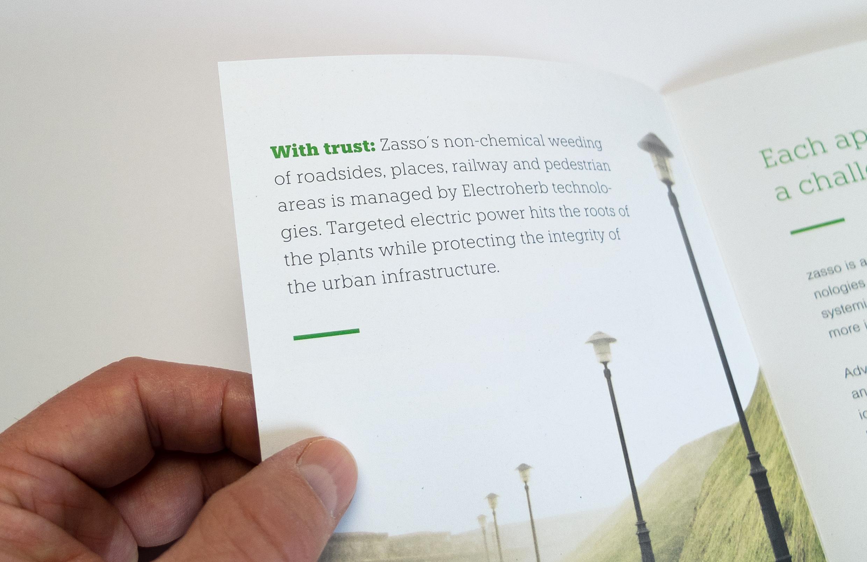 Typografische Gestaltung einer Broschuere