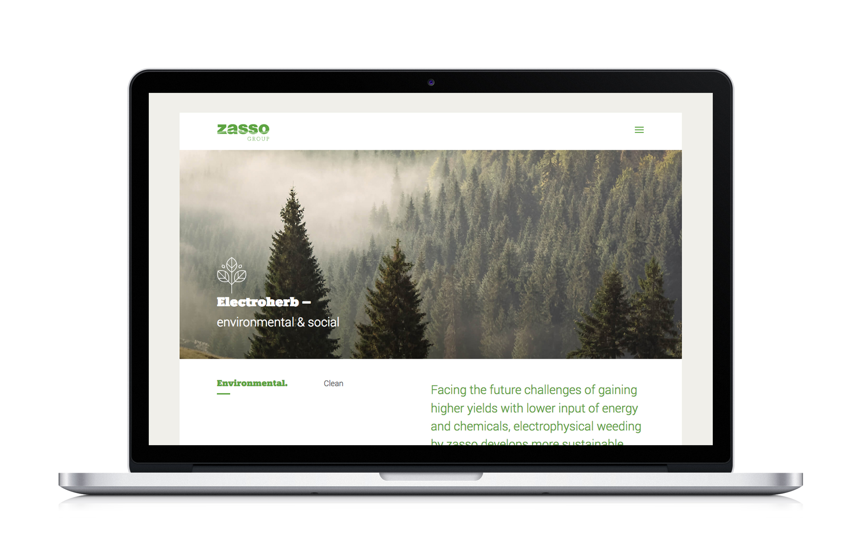 Webdesign der Firma Zasso