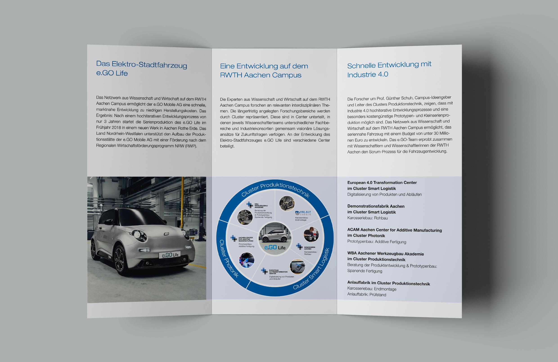 e.GO-Gestaltung Flyer