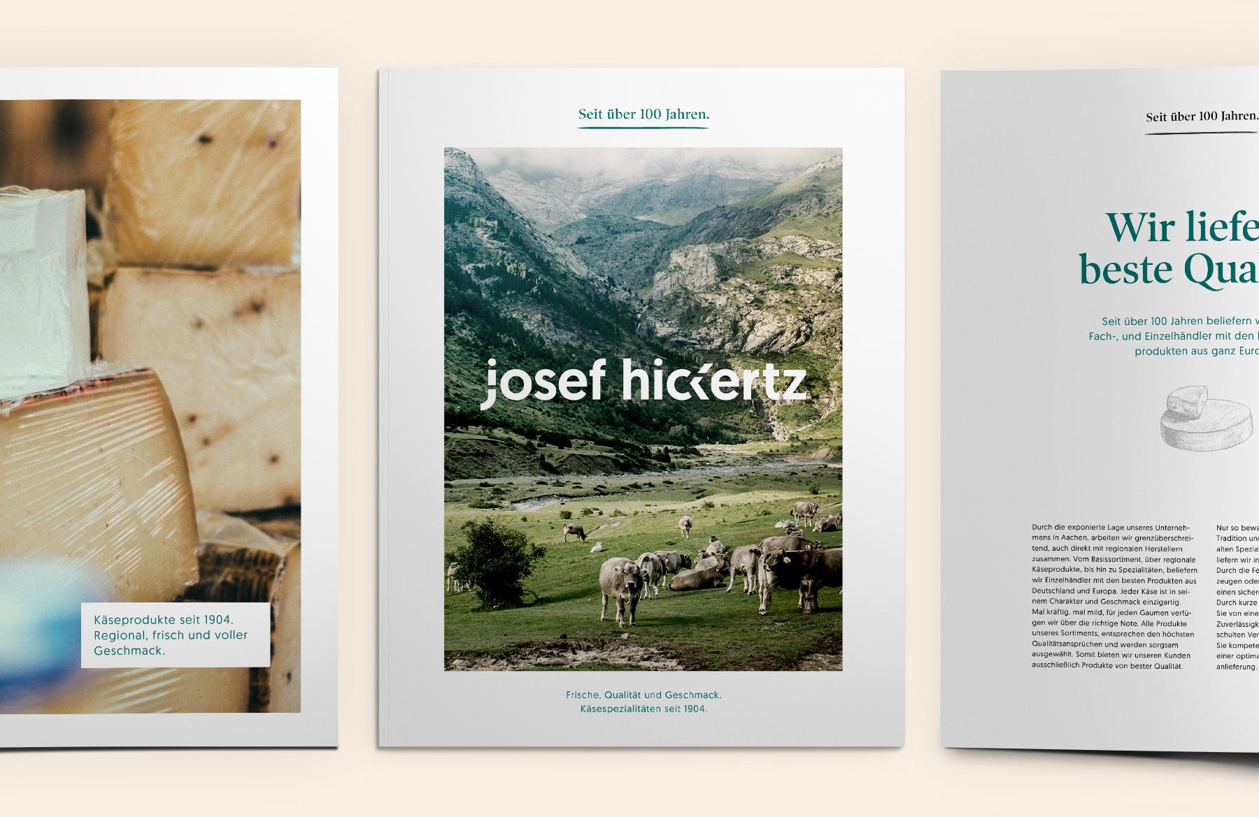 Hickertz-Broschüre und Magazin