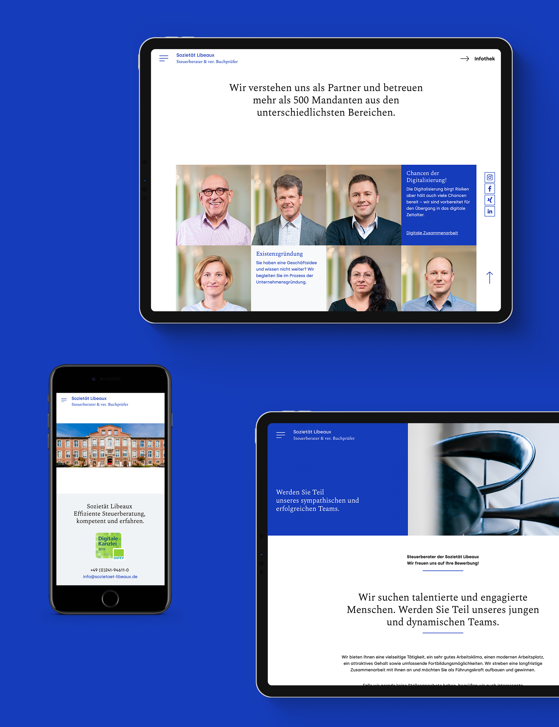 Responsive Webdesign-iPad und iPhone