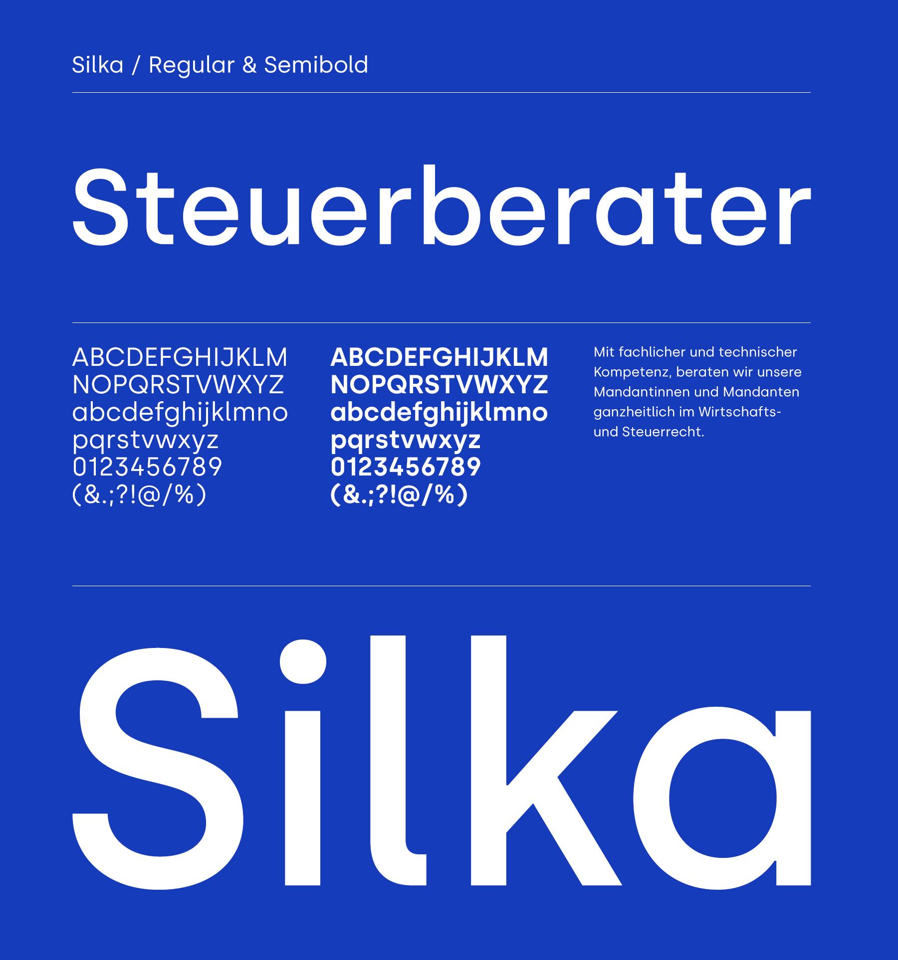 Typografie und Konzept-Silka