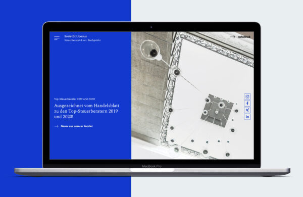 Webentwicklung für die Sozietät Libeaux